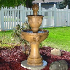 Two-Tier Contemporary Lion Fountain