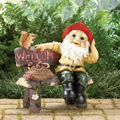 "Garden Gnome ""WELCOME"" Sign"