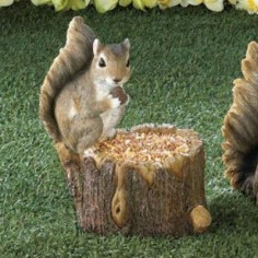 Squirrel Tree Trunk Bird Feeder