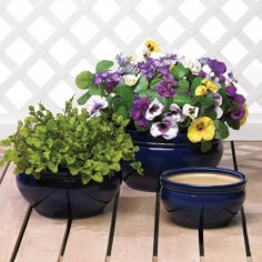 Ocean Blue Planter Trio